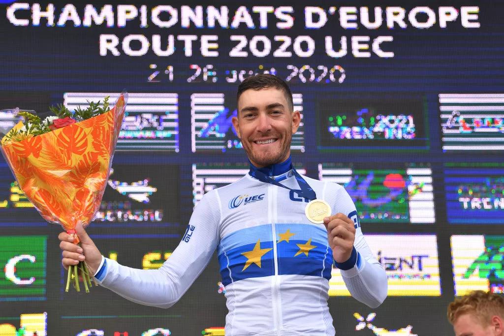 2020 Abbigliamento Ciclismo NTT Pro Cycling Blu Nero Manica Corta e Salopette